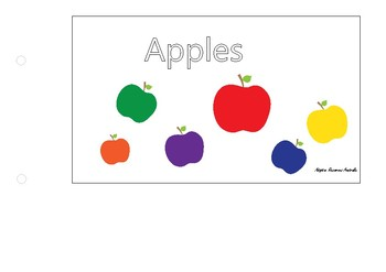 Free ~ Adapted Interactive Book : Apples