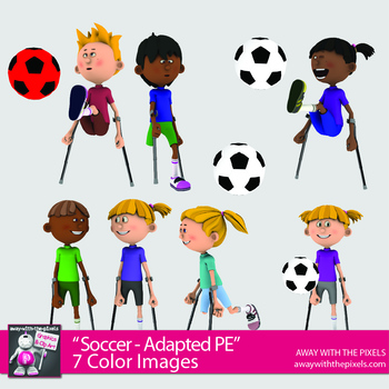 Free Adapted PE Clipart Soccer - Fitness PE - Digital Product OK