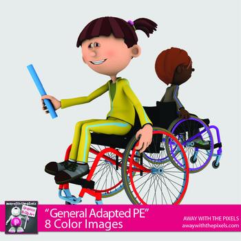 Free Adapted PE Clipart Taster Set - Fitness PE - Digital Product OK