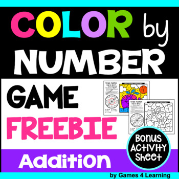 Free Addition Color by Number Game