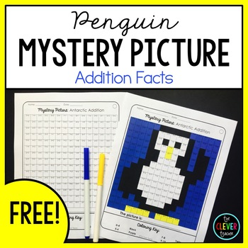 Mystery Picture Free - Addition Facts