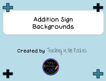 Addition Sign Backgrounds - Freebie
