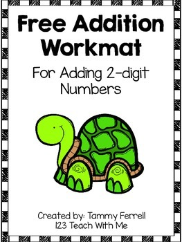 Free Addition Work Mat: 2 Digit Numbers
