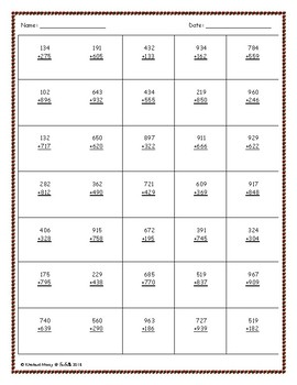 Free Addition Worksheet