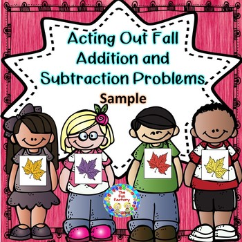 Free ~ Addition and Subtraction Story Necklaces ~ Fall Sample