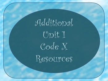 Free Additional Unit 1 Code X College 101 Resources