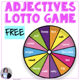 Free Adjective Lotto Game Speech and Language