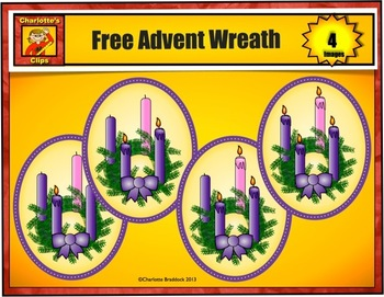 Free Advent Candles Wreath from Charlotte's Clips: Catholic - Christian Series