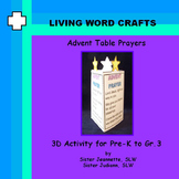 Advent Table Prayer 3D for Pre-K to Gr. 3