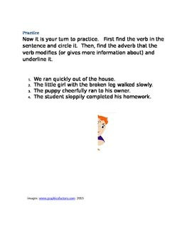 Free: Adverb Lesson and Practice