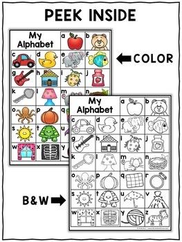 Alphabet Charts Letters and Sounds