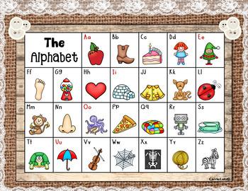 Free Shabby Chic Farmhouse Style Alphabet Poster