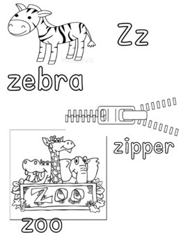 Alphabet Coloring Sheet Printables Aa-Zz