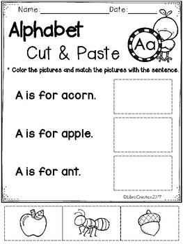 Free Alphabet Cut & Paste