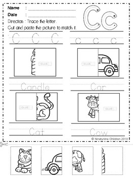 Free Alphabet Cut and Paste Part 2