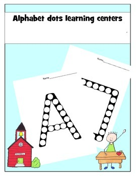 Free Alphabet Dots Learning Centers Sample