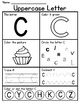 Free - Alphabet Letter Worksheets (Uppercase)
