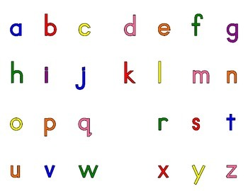 Free Alphabet Letters Mat