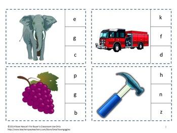Free-Alphabet,Lower Case Letter Recognition, Clip Cards Sampler