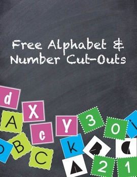 Free Alphabet & Number Cut-Outs