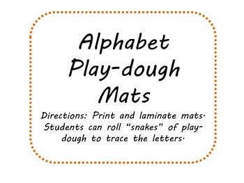 Literacty Center- Free Alphabet Play-Dough Mats
