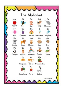 Free Alphabet Poster
