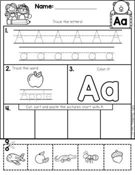 Free Alphabet Practice Cut and Paste