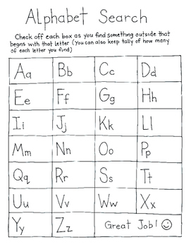 Free Alphabet Search Activity Page {KT Creates}