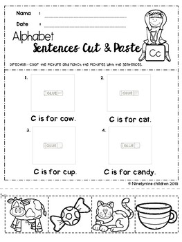 Free Alphabet Sentences ( Cut & Paste )