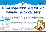Free Alphabet A to Z Letter Writing Practice Kindergarten Worksheets (not trace)