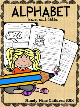 Free Alphabet Trace and Color part 2