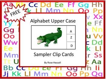 Free-Alphabet Upper Case Clip Cards Sampler