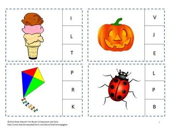 Free-Alphabet, Upper Letter Recognition, Case Clip Cards Sampler