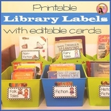 Editable Library Labels Polka dot version