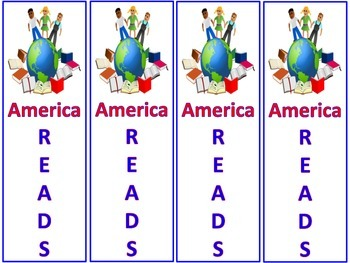 Free! America Reads Bookmarks