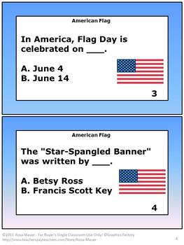Free American Flag Task Cards