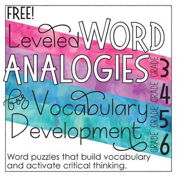 Free Analogies for Grades 3-6