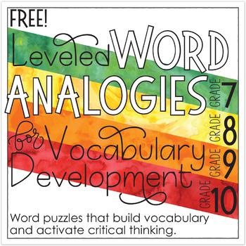 Free Analogies for Grades 7-10
