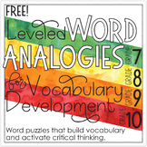 Free Analogies for Grades 7-10