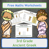 Free Ancient Greek Themed Maths Worksheets for 3rd Grade Classes