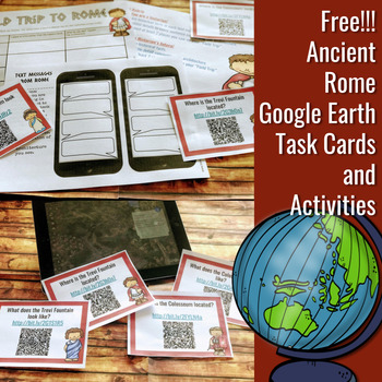 Free!!! Ancient Rome Google Earth Task Cards and Activities