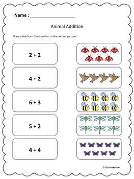 Free Animal Kindergarten Math Practice