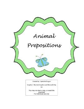{Free}  Animal Prepositions