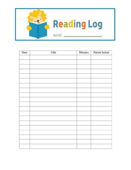 Free Animal Theme Reading Log Template