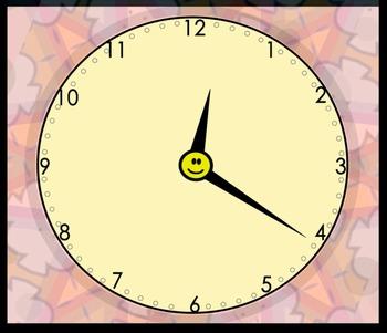 Free Animated Analog Clock (2.MD.C.7)