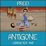 FREE Antigone Character Map Graphic Organizer