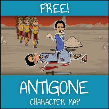 FREE Antigone Character Map Graphic Organizer