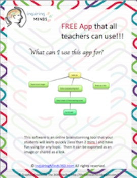 Free App that ALL teachers can use for students to brainstorm with!