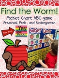 Free!  Apple ABC Pocket Chart Game - Preschool, PreK, and Kindergarten