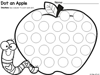 Free Dot an Apple Activity